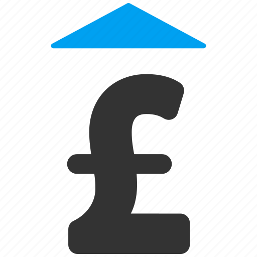 bid, growth, increase, pound sterling, price up, set rate, value icon
