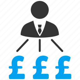 boss, business man, businessman, cash flow, expenses, payments, pound sterling icon