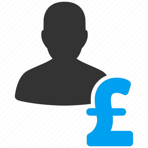 business man, businessman, financial manager, loan, person, pound sterling, user icon