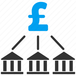 bank association, business, cash flow, company, money, pound sterling, scheme icon