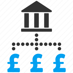 bank, business, currency, network, payments, pound sterling, wealth icon