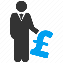 business man, finance, invest, investment, investor, money, pound sterling icon