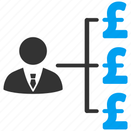 banker, business man, cashout, finance, links, payment, pound sterling icon