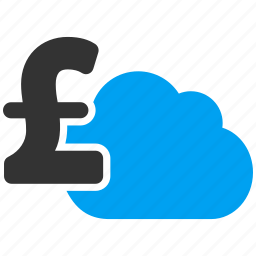 cloud banking, forecast, network, pound sterling, server, sky, weather icon