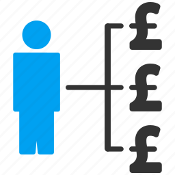 banker, business man, businessman, cashout, payments, person expenses, pound sterling icon