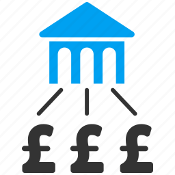 bank association, banking, currency, group, payment, pound sterling, structure icon