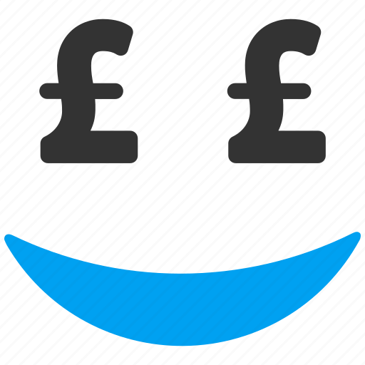 businessman, happiness, positive, pound sterling, smile, smiley, trader icon