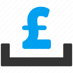 bank, deposit placement, investment, location, pound sterling, savings, storage icon