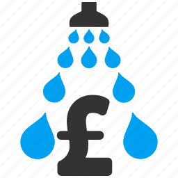 clean, cleaning business, laundry, money laundering, pound sterling, wash, water drops icon