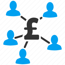 clients, crowd funding, payment, pound sterling, share holders, staff salary, user group icon