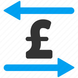 arrows, business, exchange, money, pound sterling, swap, transactions icon