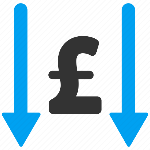 accept, arrow, bank, business, get money, pound sterling, receive icon