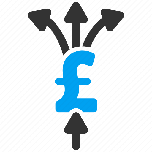 business, divide payment, financial, money transfer, payments, pound sterling, split icon