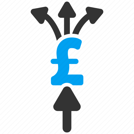 collect, divide payment, financial, money transfer, payments, pound sterling, split icon