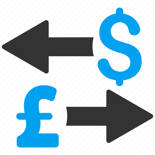 conversion, currency exchange, dollar, forex, pound sterling, transactions, transfer icon