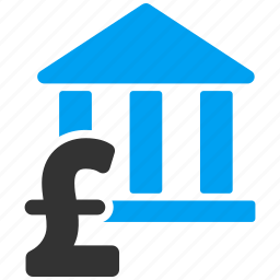 bank building, court, library, museum, pay, payment, pound sterling icon