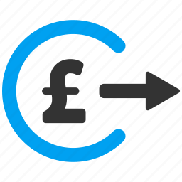 cash out, checkout, money, order, payment, pound sterling, purchase icon