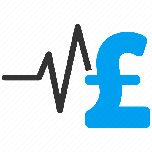 analysis, business, financial pulse, medical graph, medicine, pound sterling, pulsation chart icon