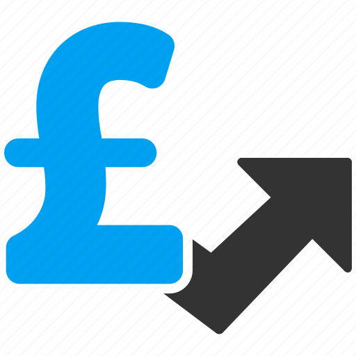 arrow, chart, currency, grow up, growth, pound sterling, progress icon