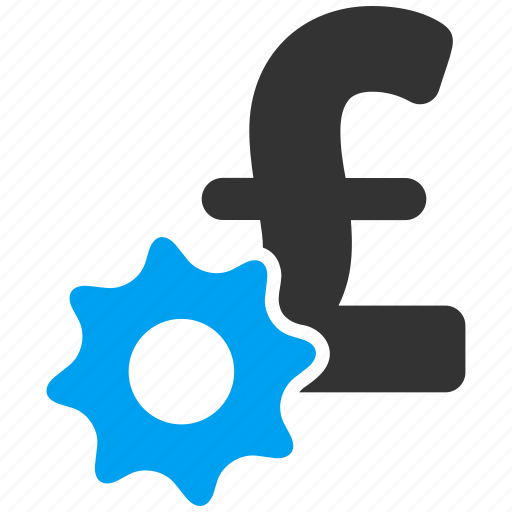 bank settings, business tools, financial industry, gear, money, payment options, pound sterling icon