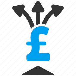 divide payment, finance, income, payments, pound sterling, share money, split icon