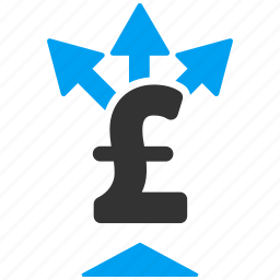 business, cashouts, divide, finance, pound sterling, share money, split payment icon