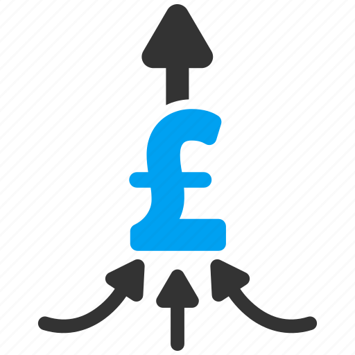 converge, hand, money, payments, people, pound sterling, unite icon