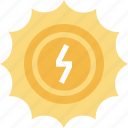 ecology, electricity, energy, nature, power, solar, sun icon