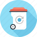 bin, garbage, recycle, recycling, reduction, trash, waste icon