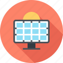 ecology, electricity, energy, panel, power, solar, sun icon