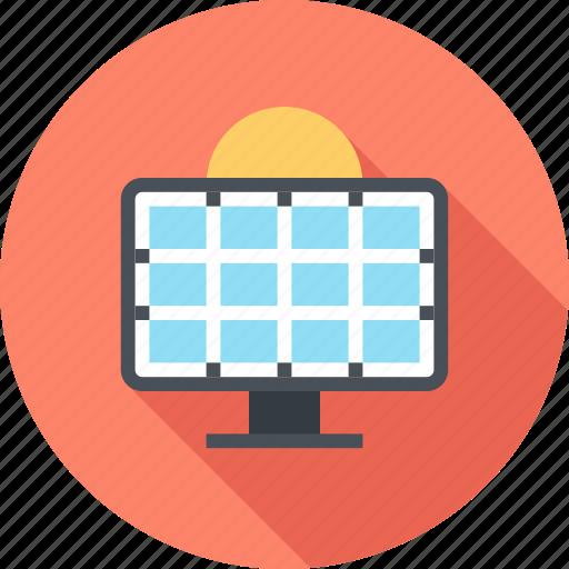 ecology, electricity, energy, panel, power, solar, sun icon