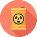 barrel, ecology, industry, nuclear, pollution, radiation, waste icon