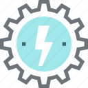 cogwheel, electricity, energy, gear, industry, power, production icon