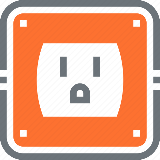 electric, electricity, energy, outlet, plug, power, socket icon
