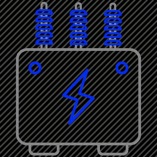 eco, economic, energy, power, transformer icon