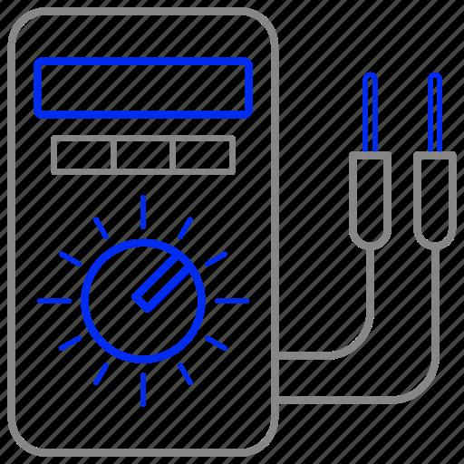 eco, economic, energy, multimeter, power icon