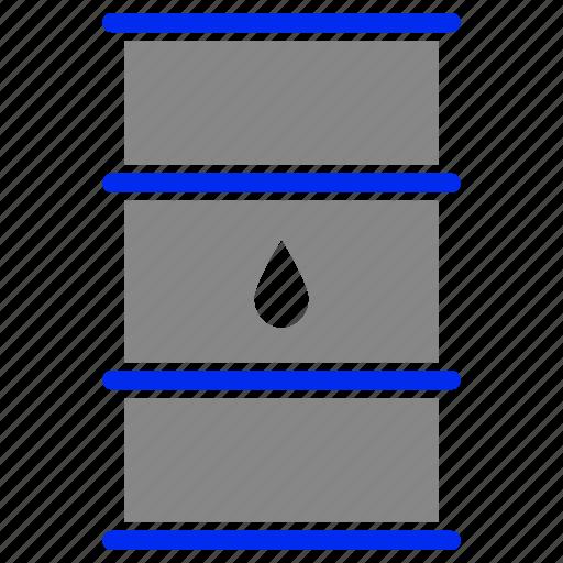 barrel, fuel, oil, petrol, roll, tank icon