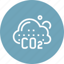 air, carbon, co2, ecology, environment, nature, pollution icon