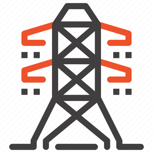 city, electricity, energy, industry, power, powerline, tower icon