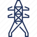electricity, line, power, tower icon
