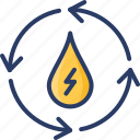 energy, hydro, hydro power, power, watter icon