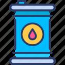 barrel, gasoline, oil, petroleum, tank icon