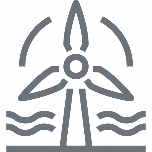 ecology, electricity, energy, industry, power, turbine, wind icon