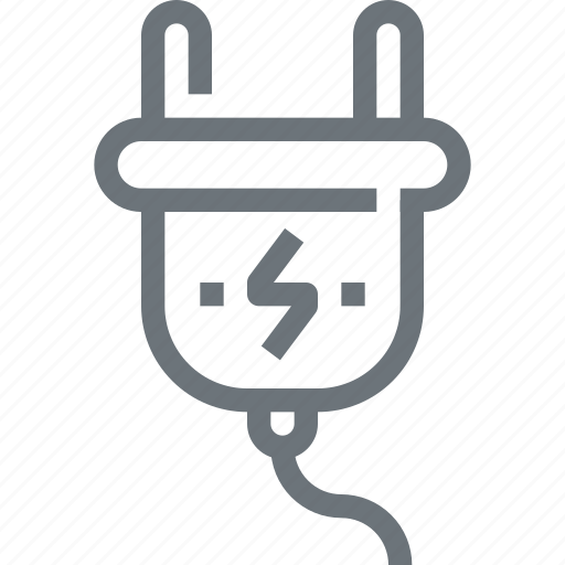 cable, cord, electric, electricity, energy, plug, power icon