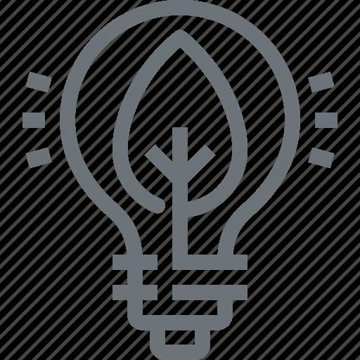 bulb, ecology, energy, green, light, nature, plant icon