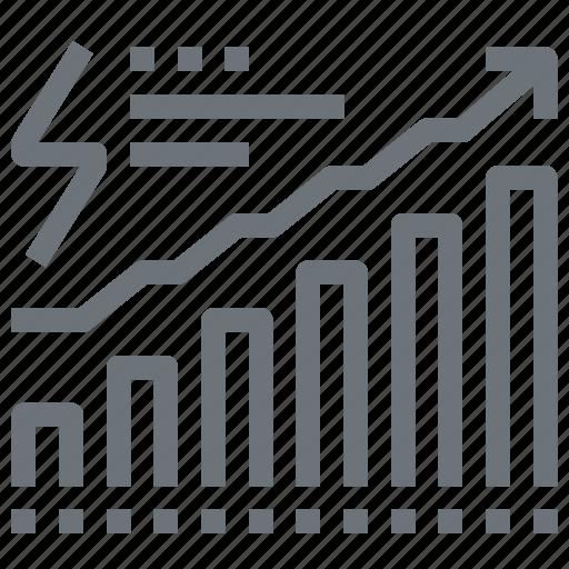 chart, consumption, data, diagram, energy, graph, power icon