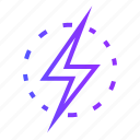 charge, electric, electricity, energy, idea, power icon