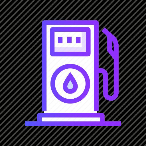 fuel, gas, oil, petrol, station icon