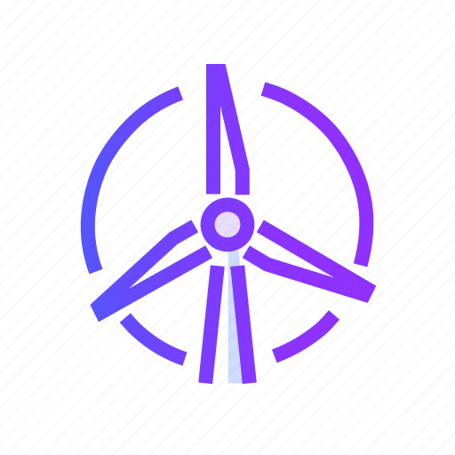 energy, green, nature, power, wind icon