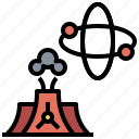 alert, electronics, energy, industry, nuclear, power, radiation, signaling icon